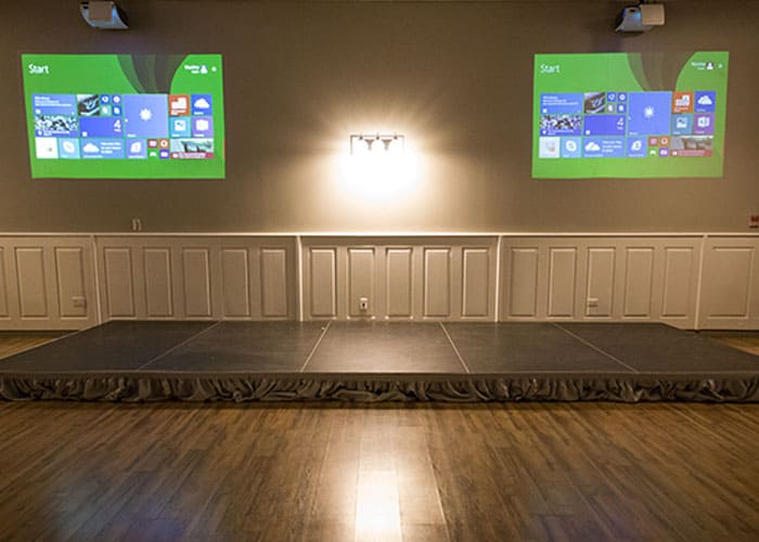 projection screens event center