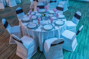 custom table settings for wedding reception