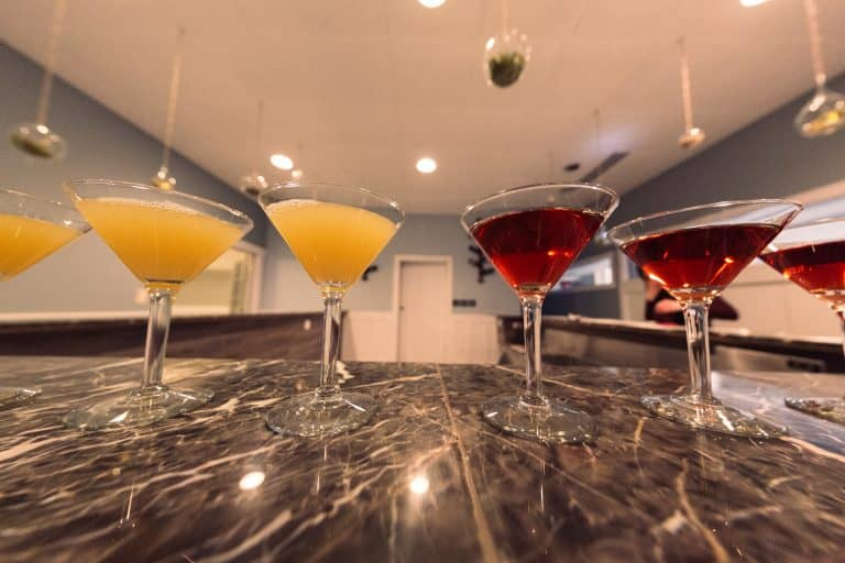 rich and high-end bar with mimosas and martinis