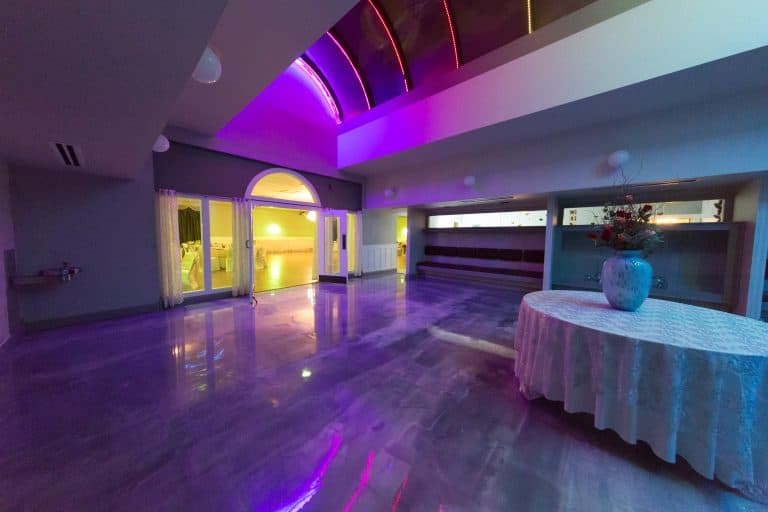 wedding hall foyer multicolored theme